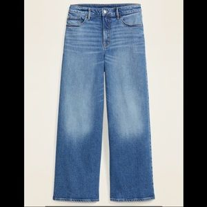Old Navy extra high waisted wide leg jeans NWT
